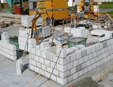 mauer betonieren fundament